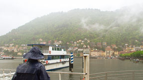 On the pier in Como. Stock Images