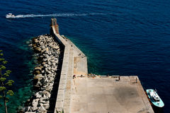 Pier at Corsica. Royalty Free Stock Images