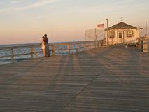 Pier Couple Royalty Free Stock Images