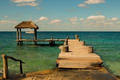 Pier Cozumel Mexiko Lizenzfreies Stockfoto