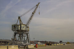 Pier crane Royalty Free Stock Images