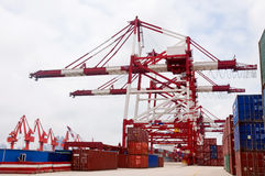 Pier Cranes Royalty Free Stock Photography