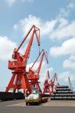 Pier Cranes Stock Images