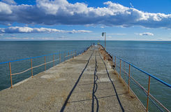 On the pier.  Crimea, the Black Sea. Stock Photo