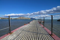On the pier.  Crimea, the Black Sea. Royalty Free Stock Photography