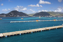 Pier for cruise ships in Philipsburg on the island of Sint Maart Stock Photography