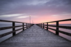 Pier before dawn, Baltic Sea Stock Photography