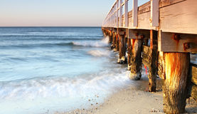 Pier in Dawn Light Royalty Free Stock Images