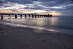 Pier. Dawn over the fishing pier Stock Image