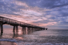 Pier. Dawn over the fishing pier Royalty Free Stock Photos