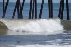 Pier Days in den Strand-äußeren Banken des North Carolina lizenzfreie stockbilder