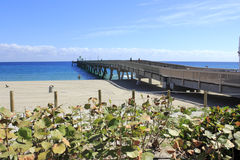 Pier in Deerfield Beach Royalty Free Stock Photography