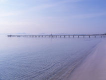 Pier in dem Ozean Lizenzfreies Stockfoto