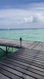 Pier in den Malediven Lizenzfreies Stockbild