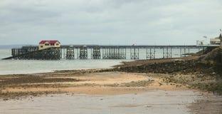 Pier in den Mumbles, Swansea, Südwales Lizenzfreie Stockbilder