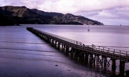 Pier an der Gouverneur-Bucht stockbild