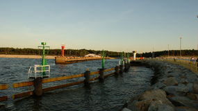 Pier an der Küste Lizenzfreies Stockbild