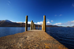 Pier on Derwent Water Stock Photo