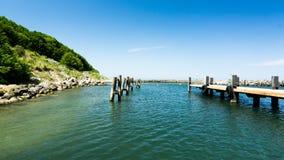 Pier des Hafens Stockbilder