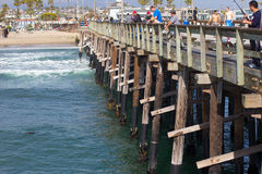 Pier des Newport-Strand-CA Stockbild