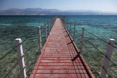 Pier des Roten Meers Elat, Israel stockbild