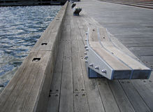 Pier at Docklands. (Australia, Victoria, Melbourne royalty free stock photos