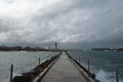 Pier door het dok van het cruiseschip, Florida Stock Foto's