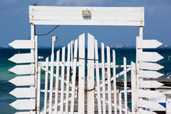 Pier gate Stock Photos