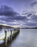 Pier at dusk Royalty Free Stock Images