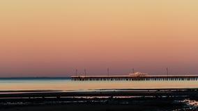 Pier at Dusk Stock Photo
