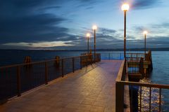 Pier at the dusk Stock Image