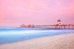 Pier in early morning Royalty Free Stock Photos