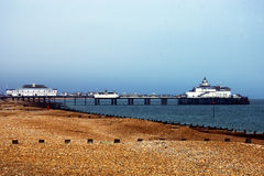 Pier in eastbourne. The old pier in eastbourne Royalty Free Stock Photography