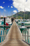 Pier at Eden Island, Mahe, Seychelles Royalty Free Stock Photos