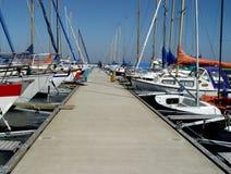 Pier in einem yachting Klumpen Stockfotografie