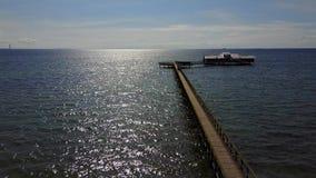 Pier Into el Mar del Norte en Malmö, Suecia metrajes