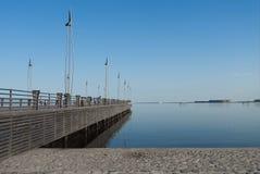 Pier on embankment, caspian sea Stock Photos