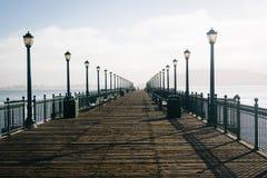 Pier 7, at the Embarcadero in San Francisco  Royalty Free Stock Image