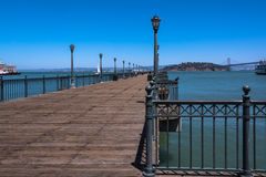 Pier extending towards the ocean, San Francisco Royalty Free Stock Photography