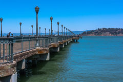 Pier extending towards the ocean, San Francisco Royalty Free Stock Images