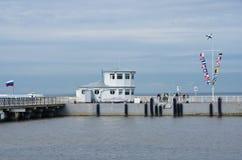 Pier für touristische Schiffe Stockfotografie