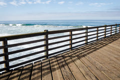 Pier fence Royalty Free Stock Images