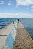 Pier in Feodosia Stock Photo