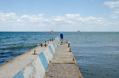 Pier in Feodosia Royalty Free Stock Photo
