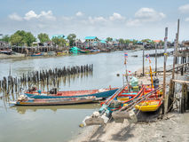 Pier and fisherman village Royalty Free Stock Photo