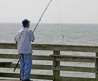 Pier Fishing. Fishing by the pier Royalty Free Stock Images