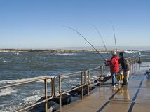 Pier Fishing Royalty Free Stock Photography