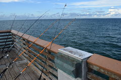 Pier Fishing Fotos de archivo libres de regalías