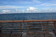 Pier Fishing Fotografía de archivo