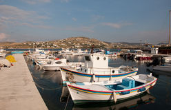 Pier with fishing boats on the island Stock Photography